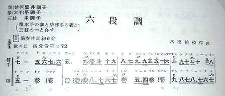 山田流楽譜